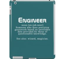 "Meaning of the word ""engineer"" iPad Case/Skin"