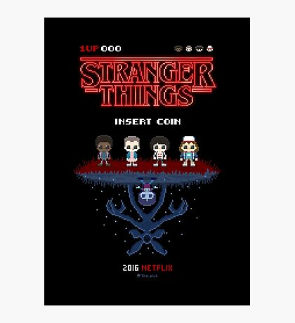 16-bit Stranger Things Photographic Print