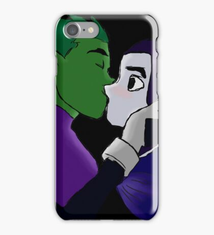 Teen Titans - Beast Boy and Raven iPhone Case/Skin