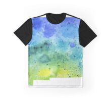 Watercolor Map of New Mexico, USA in Blue and Green - Giclee Print of My Own Watercolor Painting Graphic T-Shirt