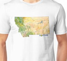 Montana Painted Map Unisex T-Shirt