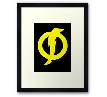 Static Shock Symbol Framed Print