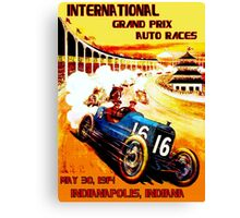 INTERNATIONAL GRAND PRIX; Vintage Auto Racing Print Canvas Print