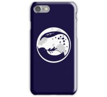 Minimalist Totoro Moon On Blue iPhone Case/Skin