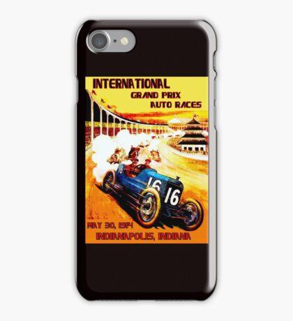 INTERNATIONAL GRAND PRIX; Vintage Auto Racing Print iPhone Case/Skin
