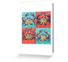 Crabby Cube Greeting Card