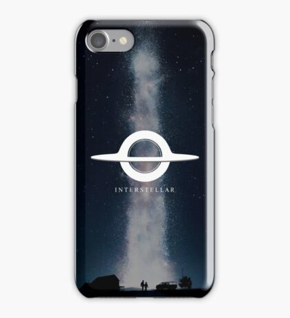 Interstellar (Gargantua minimalist + wp) iPhone Case/Skin
