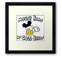Mouse Ears and Cold Beers Framed Print