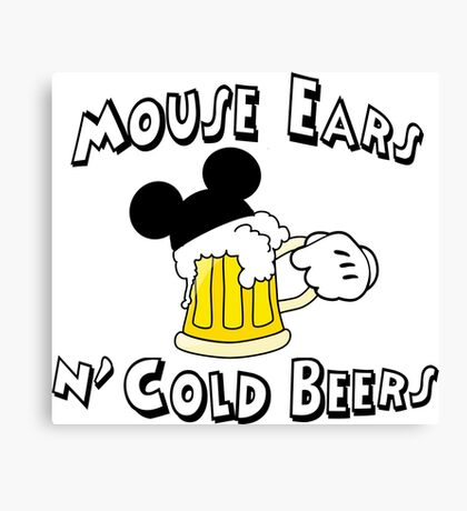 Mouse Ears and Cold Beers Canvas Print