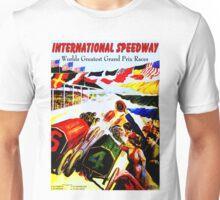 INTERNATIONAL SPEEDWAY; Vintage Auto Racing Print Unisex T-Shirt