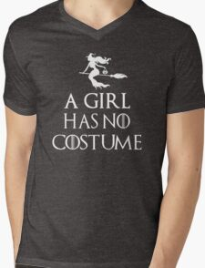 A Girl Has No Costume Shirt - Funny Halloween Shirt Mens V-Neck T-Shirt