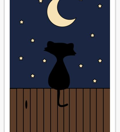 Cat on a fence Sticker