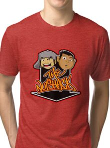 LIMITED EDITION ORIGINAL NUTSHACK T-SHIRTS VARIOUS COLORS FEAT. PHIL AND JACK FROM THE ORIGINAL SERIES THE NUTSHACK Tri-blend T-Shirt