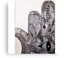 Hamsa Ink Canvas Print
