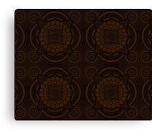 Brown Mandala Canvas Print