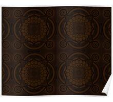 Brown Mandala Poster