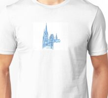 Gesu and Marquette Hall Watercolor Unisex T-Shirt