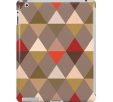 Harlequin Pattern, Taupe and Red iPad Case/Skin