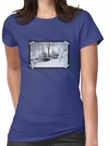 It's a Marshmallow World in the Winter Womens Fitted T-Shirt