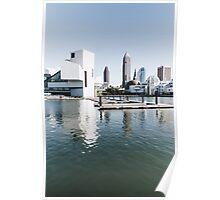 Cleveland Ohio Skyline (Rock Hall) Poster