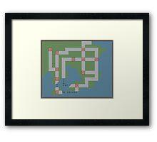 Kanto Map Framed Print