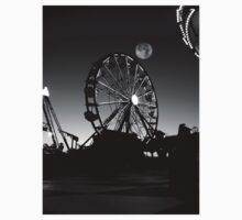 Ferris Wheel With Full Moon One Piece - Short Sleeve