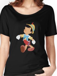 Pinocchio Illustration Women's Relaxed Fit T-Shirt