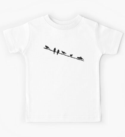 Crows on a wire Kids Tee