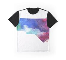 Watercolor Map of North Carolina, USA in Rainbow Colors - Giclee Print of My Own Watercolor Painting Graphic T-Shirt