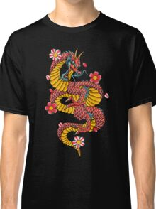 Asian Dragon with Cherry Blossom Classic T-Shirt