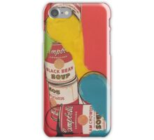 Campbells paint cans iPhone Case/Skin