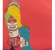 Campbells paint cans Photographic Print