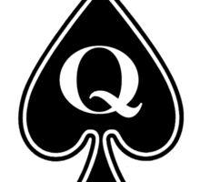 Smartphone Case - Queen of Spades - White Sticker