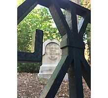 Haunted Mansion Graveyard Photographic Print
