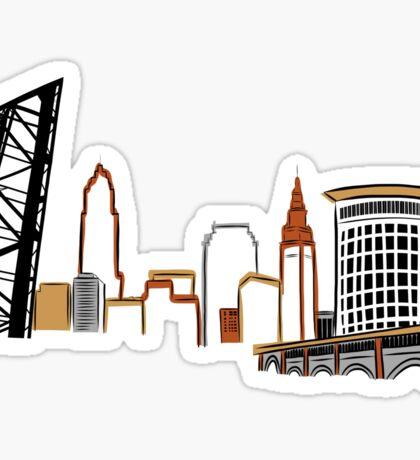 CLEVELAND the City Skyline Sticker