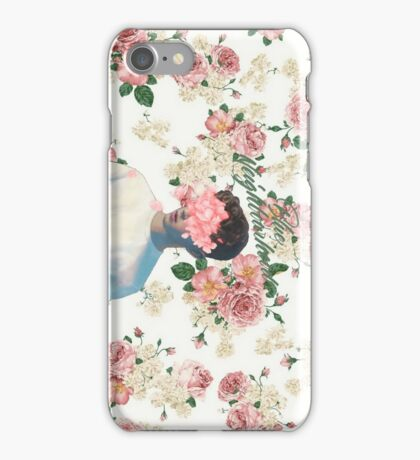 Floral Pink Blue Neighbourhood Photo  iPhone Case/Skin