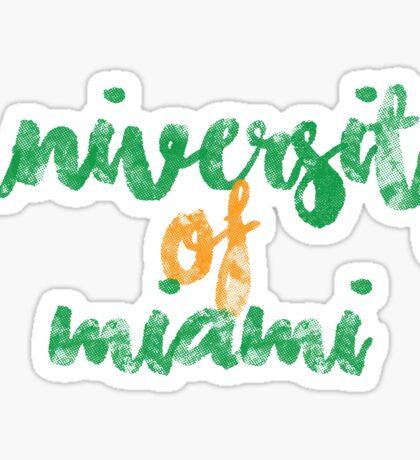 University of Miami 2 Sticker