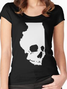 Skullinois On Black Shirts Women's Fitted Scoop T-Shirt