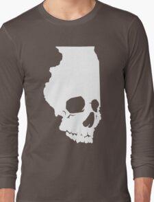 Skullinois On Black Shirts Long Sleeve T-Shirt