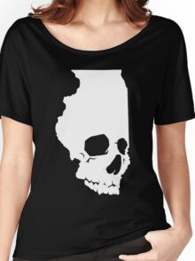 Skullinois On Black Shirts Women's Relaxed Fit T-Shirt