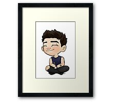 Mini Bassist Framed Print