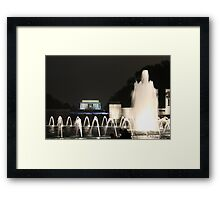 Lincoln Memorial/ WW2 Memorial Framed Print