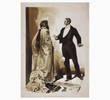 Performing Arts Posters Man in tuxedo questioning woman in cloak gloves 1543 Kids Tee