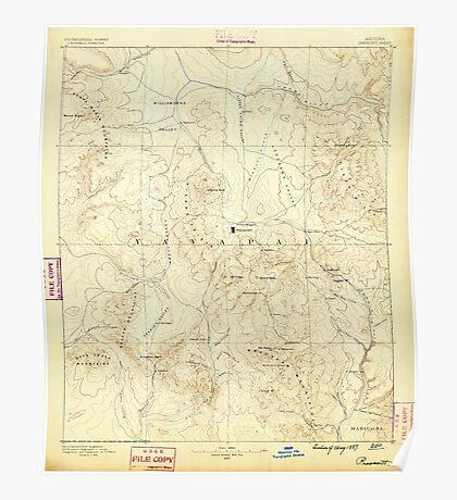 USGS TOPO Map Arizona AZ Prescott 315580 1887 250000 Poster