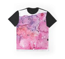 Watercolor Map of Oregon, USA in Pink and Purple - Giclee Print of My Own Watercolor Painting Graphic T-Shirt