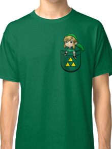 Pocket Link Hero of Time Zelda with Triforce Classic T-Shirt