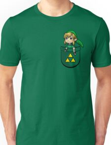 Pocket Link Hero of Time Zelda with Triforce Unisex T-Shirt