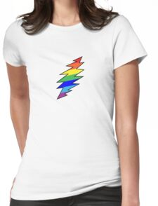 Rainbow Bolt Womens Fitted T-Shirt