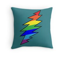 Rainbow Bolt Throw Pillow