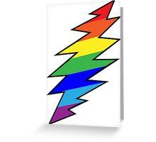 Rainbow Bolt Greeting Card